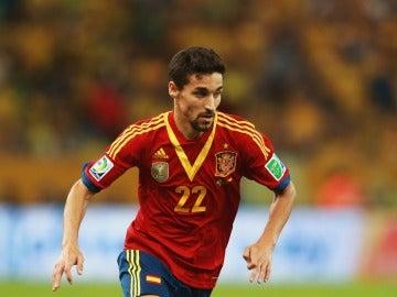 Jesús Navas en un partido con la Selección