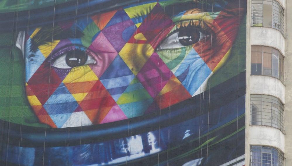 El grafiti de Ayrton Senna, hecho por Kobra