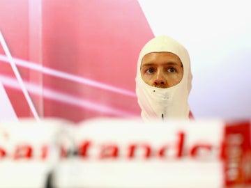 Sebastian Vettel en Brasil