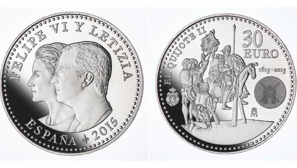 La primera moneda de los Reyes Felipe y Letizia