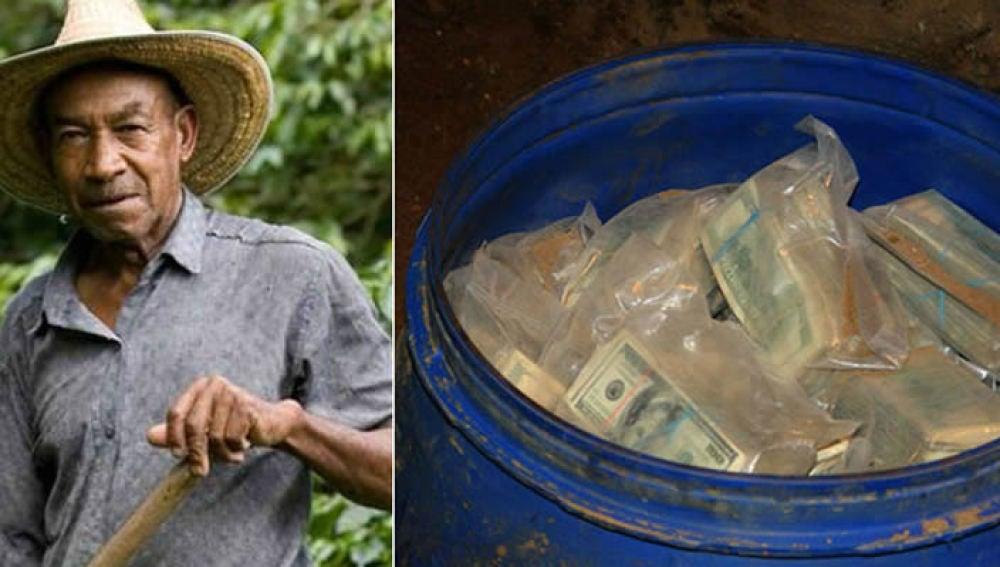 El campesino que encontró el dinero de Pablo Escobar