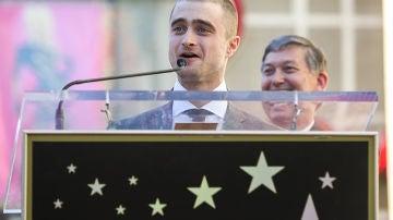 Daniel Radcliffe en su discurso al recibir la estrella