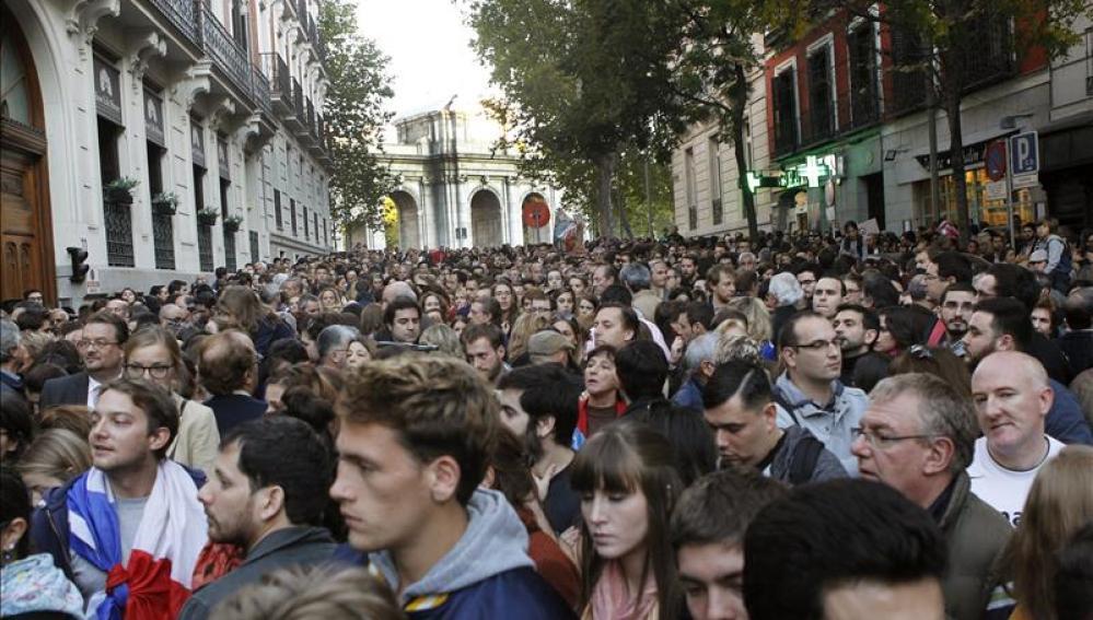Concentración en Madrid por Francia