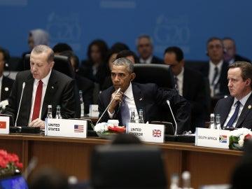 Recep Tayyip Erdogan, Barack Obama y David Cameron