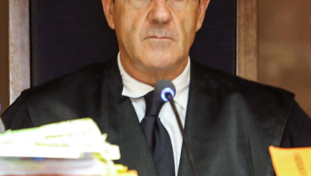 El magistrado Juan Pedro Yllanes, durante la celebración de un juicio