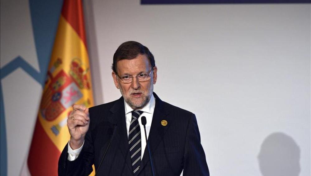 Mariano Rajoy durante una rueda de prensa