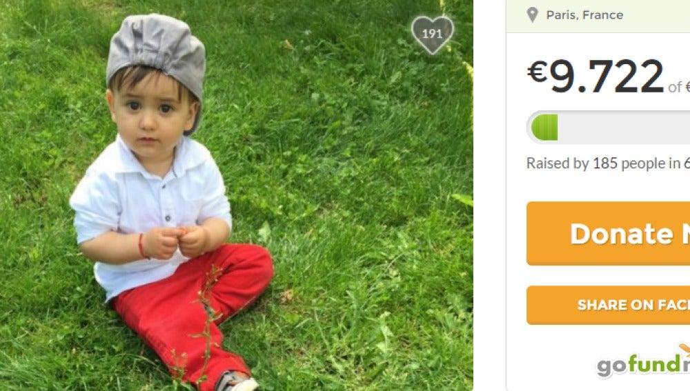 Uno de los niños que ha quedado huérfano