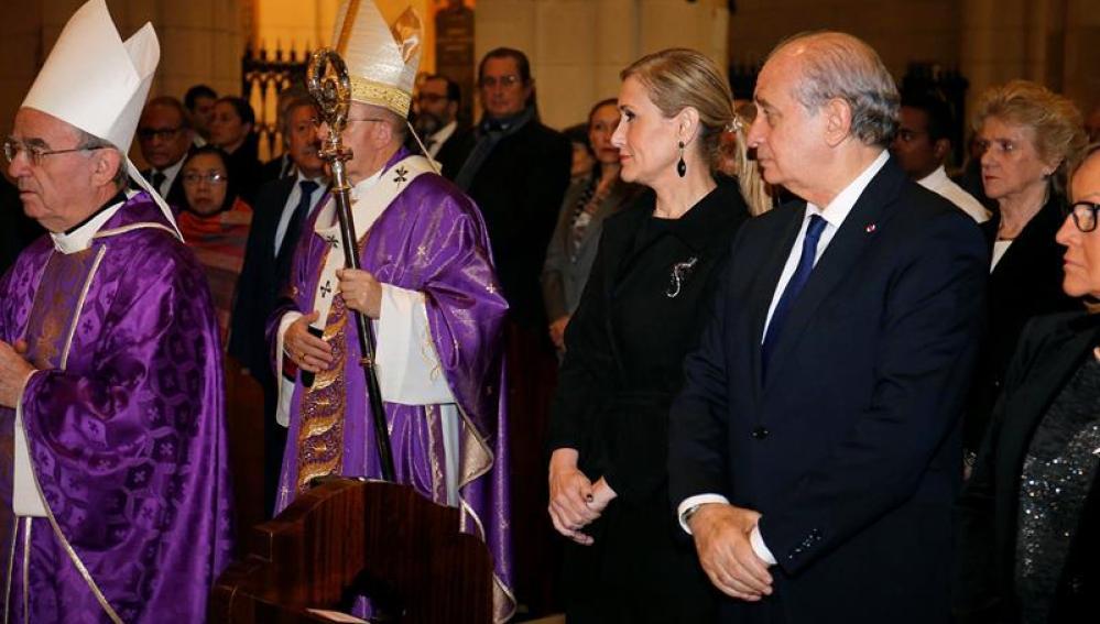 Cristina Cifuentes y el ministro Jorge Fernández Díaz