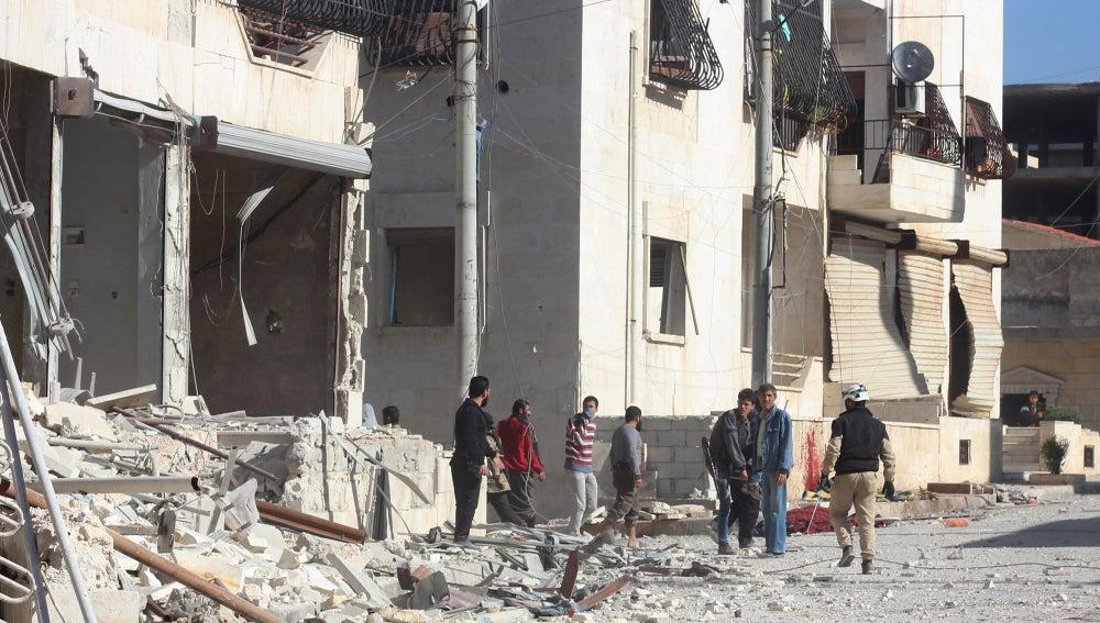Bombardeos sobre Siria