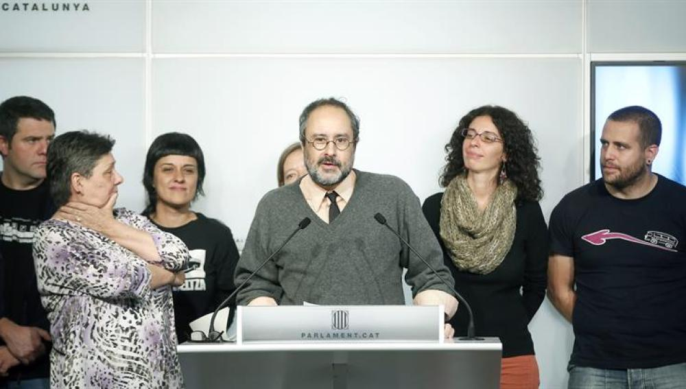 El presidente del grupo parlamentario de la CUP, Antonio Baños