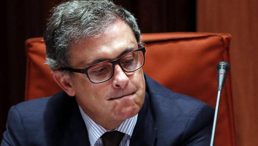 Jordi Pujol Ferrusola durante su comparecencia ante la comisión de investigación del Parlament