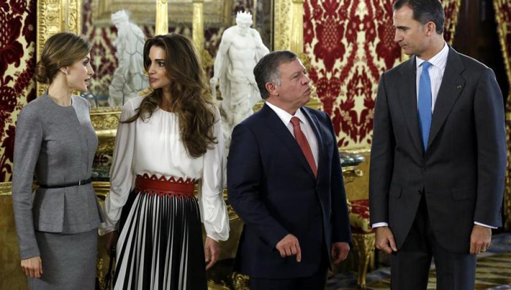Los reyes Felipe y Letizia junto al rey Abdalá II de Jordania y la reina Rania