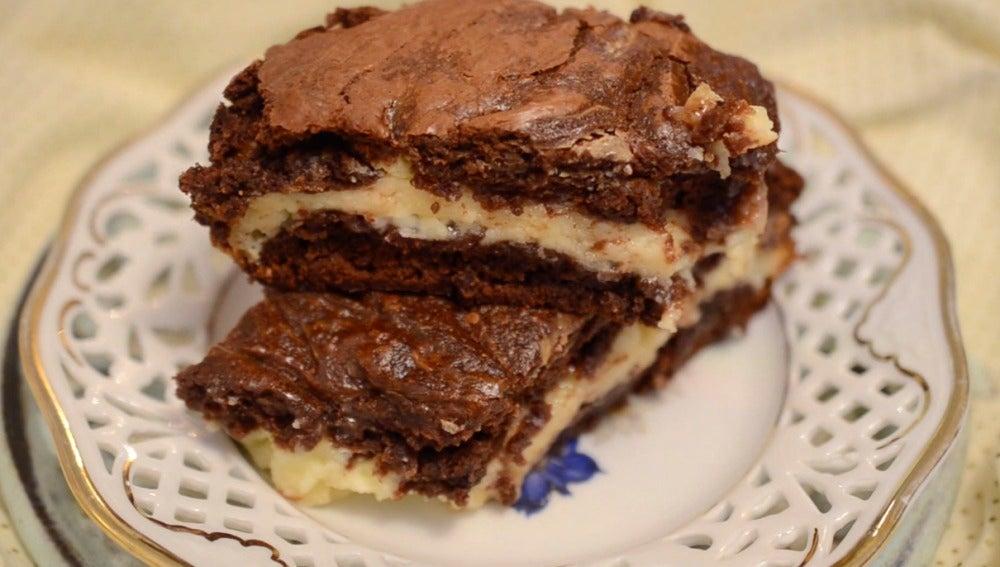 El cheesecake brownie de Bocados Divinos.
