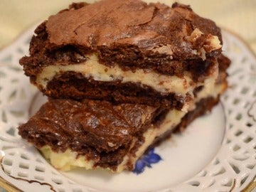 El cheesecake brownie de Bocados Divinos.