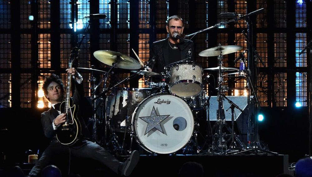 Ringo Starr, durante una actuación