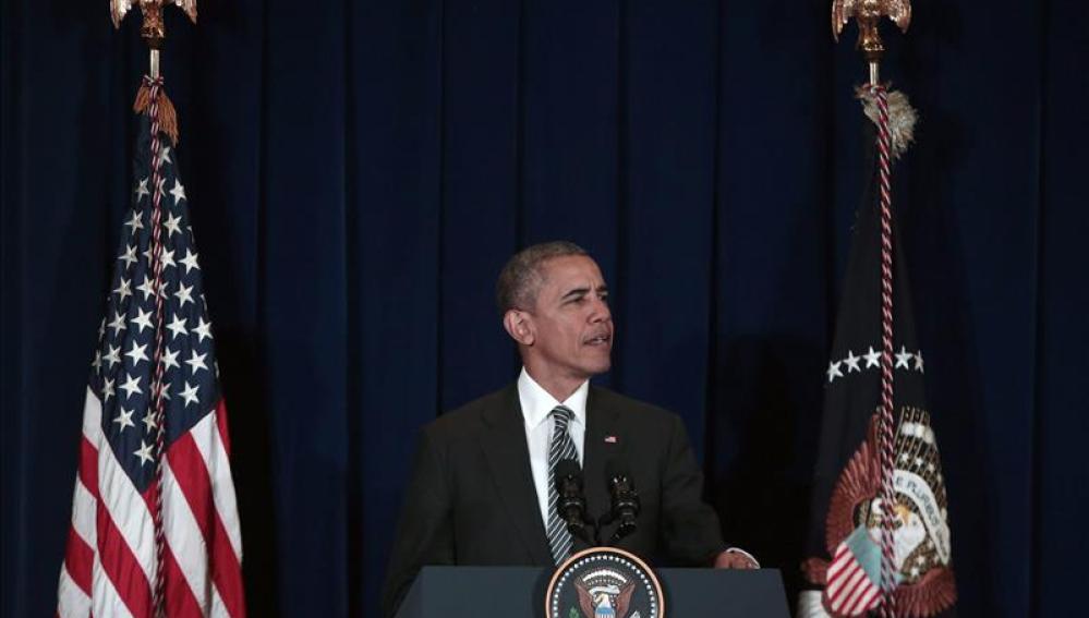 Barack Obama, durante una rueda de prensa en Malasia