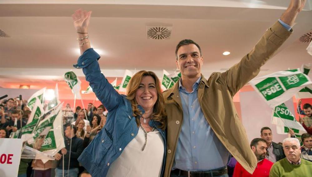 Pedro Sánchez y Susana Díaz en el evento en Jaén