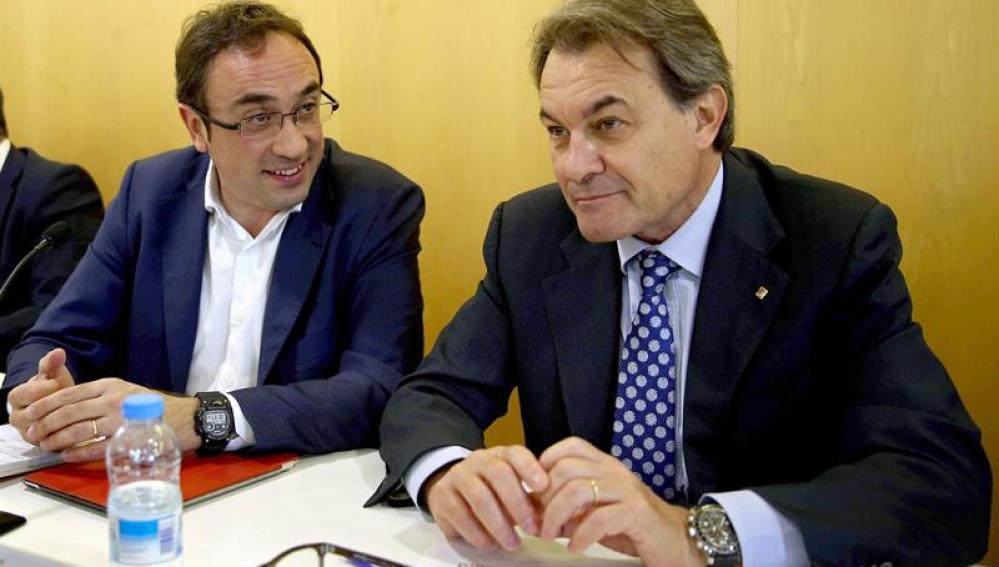 Josep Rull, al lado de Artur Mas