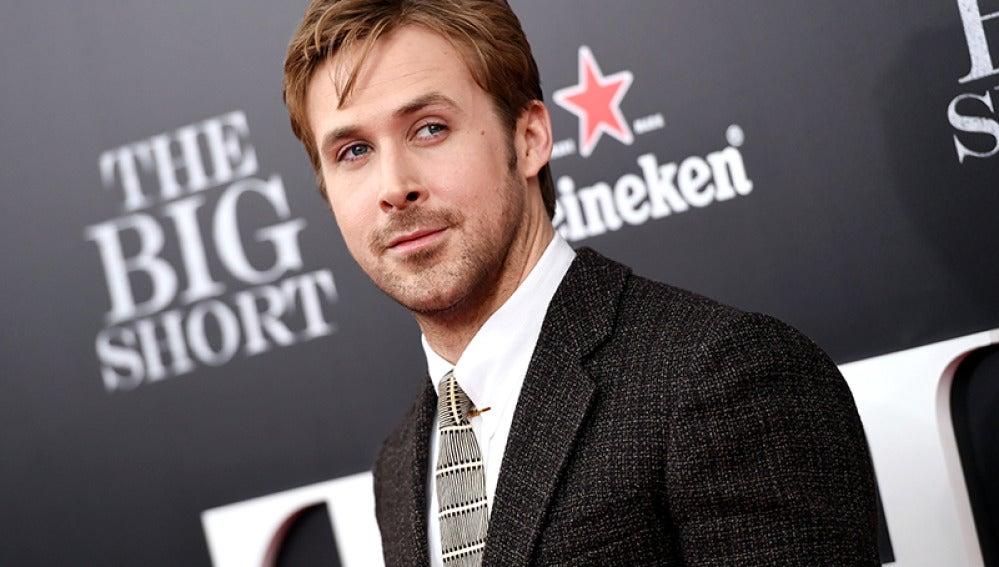 Ryan Gosling en la premiere de 'La gran apuesta'