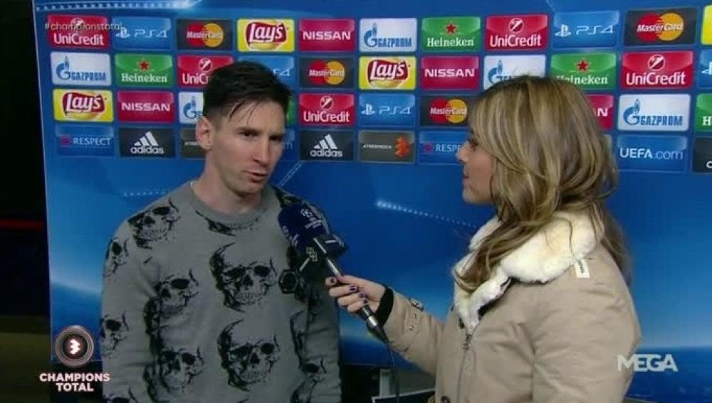 Leo Messi, junto a Susana Guasch