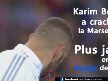 Imagen de Benzema colgada por Nadine Morano en su Facebook