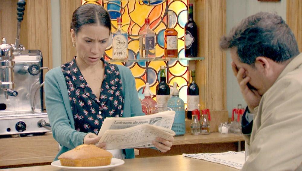 Manolita y Ramón son noticia en el periódico