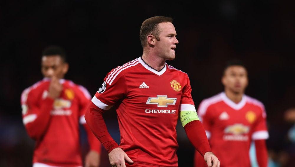 Rooney se lamenta tras el partido ante el PSV