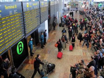 Terminal de llegadas del Aeropuerto de El Prat (Barcelona)