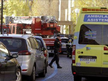 Efectivos sanitarios, de bomberos y de la Policía Local en Salamanca