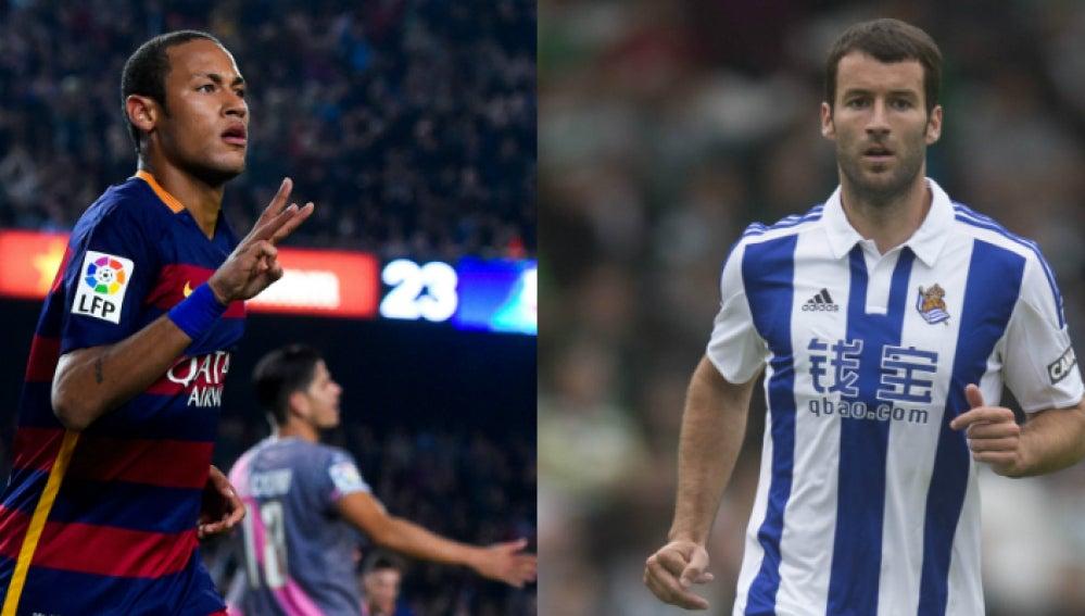 Neymar vs Agirretxe: dos delanteros con mucho gol
