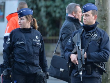 Agentes de Policía belgas
