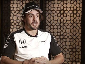 Alonso, ante la cámara