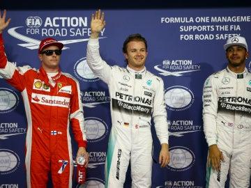 Vettel, Rosberg y Hamilton, los mejores de Q3 en Yas Marina