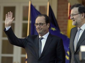 El presidente francés Francois Hollande junto al presidente del Gobierno Mariano Rajoy