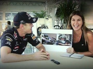 Vettel 'vacilando' a Nira Juanco