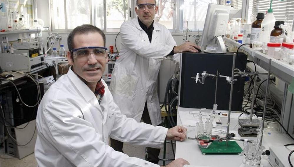 Los investigadores Francisco José Vidal y José Solla-Gullón, del Instituto Universitario de Electroquímica de la Universidad de Alicant