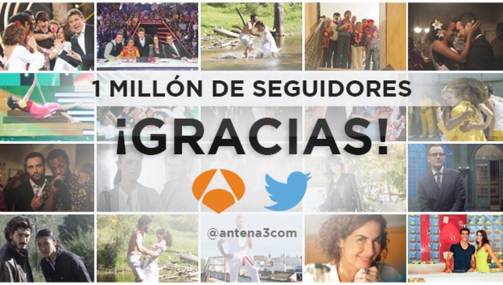 1 millón de seguidores @antena3com
