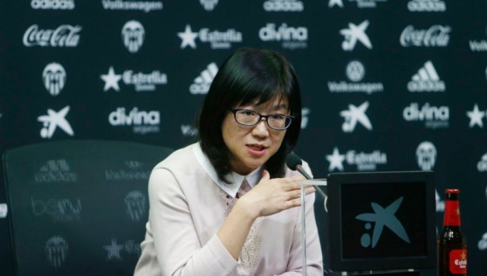 La presidente del Valencia, Layhoon Chan