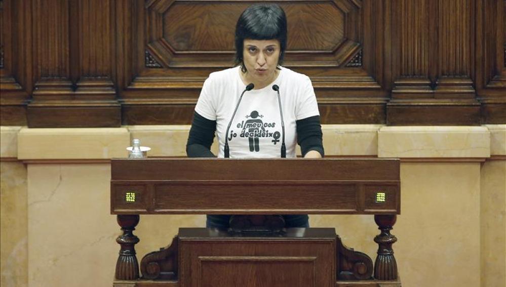La portavoz del grupo de la CUP en el Parlament, Anna Gabriel