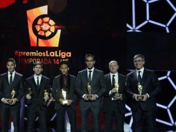 Los premieados en la gala de la Liga