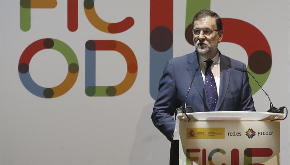 Mariano Rajoy, durante la inauguración de Ficod 2015