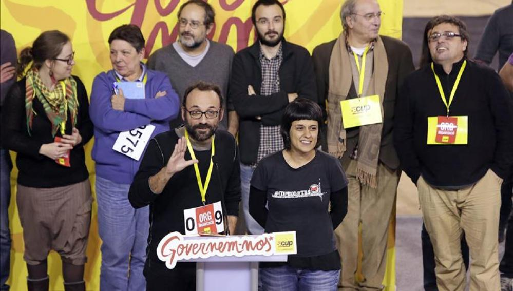 El diputado de la CUP Benet Salelles durante su intervención en un acto