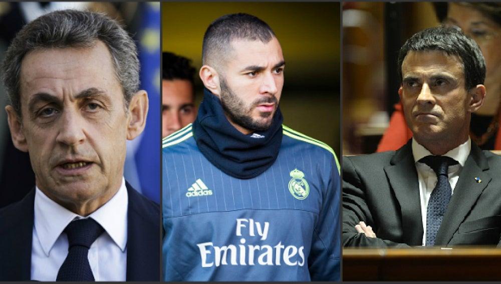 Sarkozy, Benzema, Valls