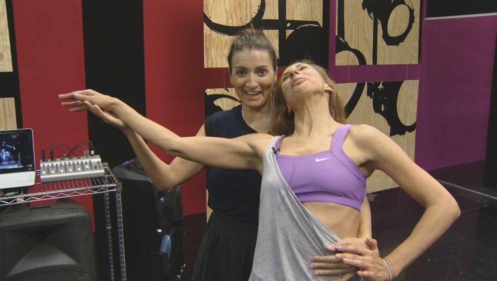 Silvia Abril y Miryam Benedited durante los ensayos de 'Tu cara me suena'