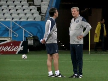 Neville, con la selección inglesa