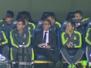 Chendo, durante el partido contra el Cádiz