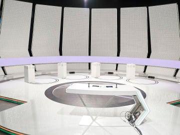 Plató del Debate Decisivo que se celebrará en Atremedia