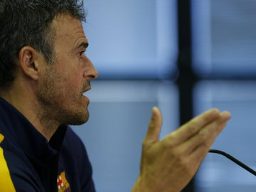 Luis Enrique, durante una rueda de prensa