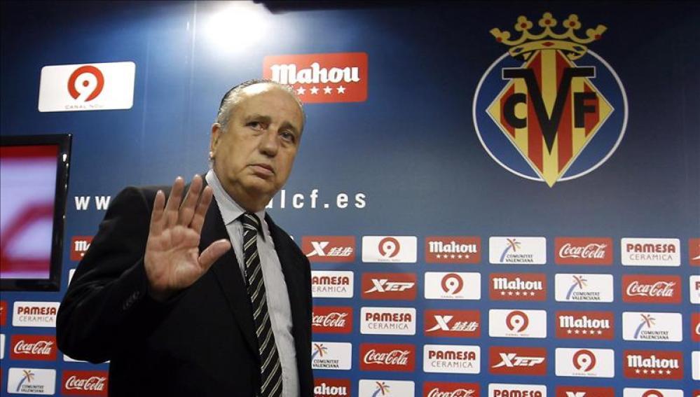 Roig, presidente del Villarreal, en la sala de prensa