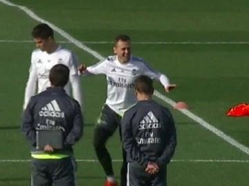 Denis Cheryshev, durante el entrenamiento del Real Madrid